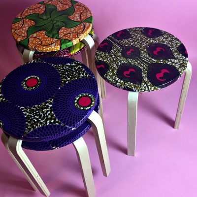 lollipop stool african prints interior design